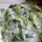 Дзадзики –  греческий салат из огурцов и мяты