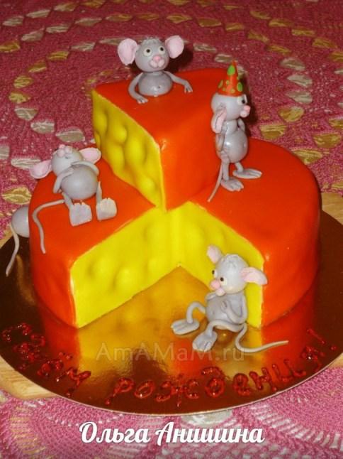 Приготовление торта Сыр с мышами