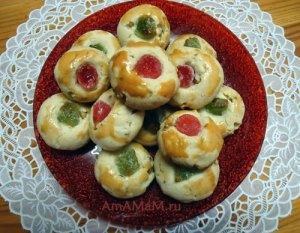 Фото вкусного рассыпчатого песочного печенья с орехами и рецепт