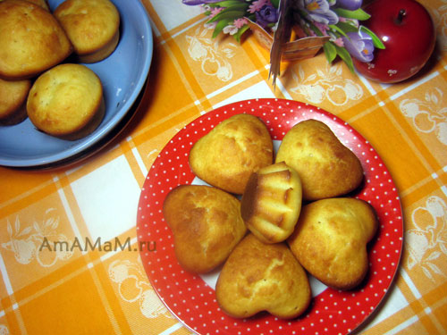Рецепт вкусных кексов с фото