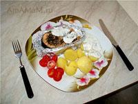 очень вкусный, сочный запеченный в духовке лосось!
