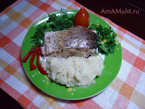 С чем подавать рыбу белый амур
