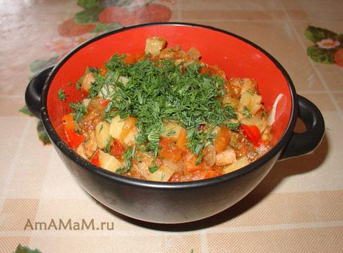 Очень вкусный узбекский лагман с готовой лапшой