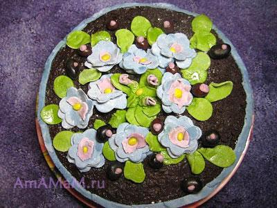 Как украсить торт цветами своими руками в домашних условиях - фото