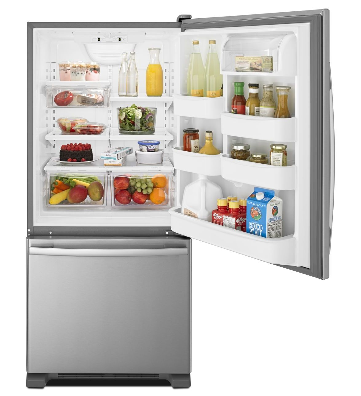 Fridges Canada Amana 29 Inch Wide Amana Bottom Freezer Refrigerator With Easyfreezer Pull Out Drawer 18 Cu Ft Capacity