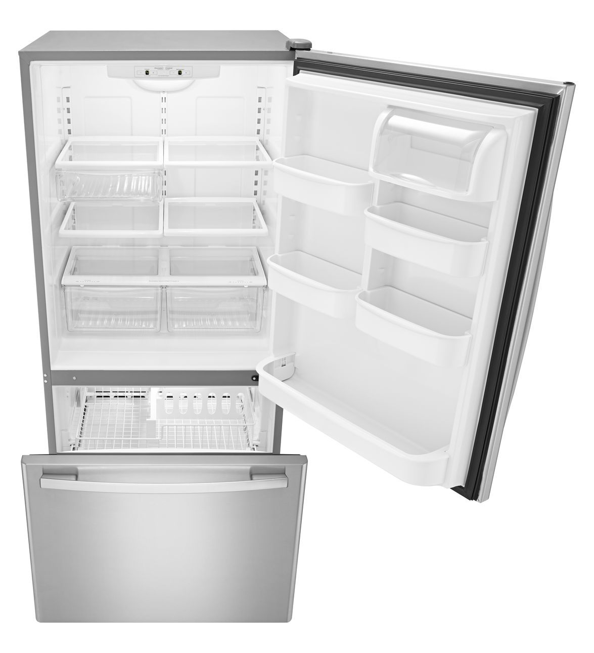 Fridges Canada Amana 33 Inch Wide Amana Bottom Freezer Refrigerator With Easyfreezer Pull Out Drawer 22 Cu Ft Capacity
