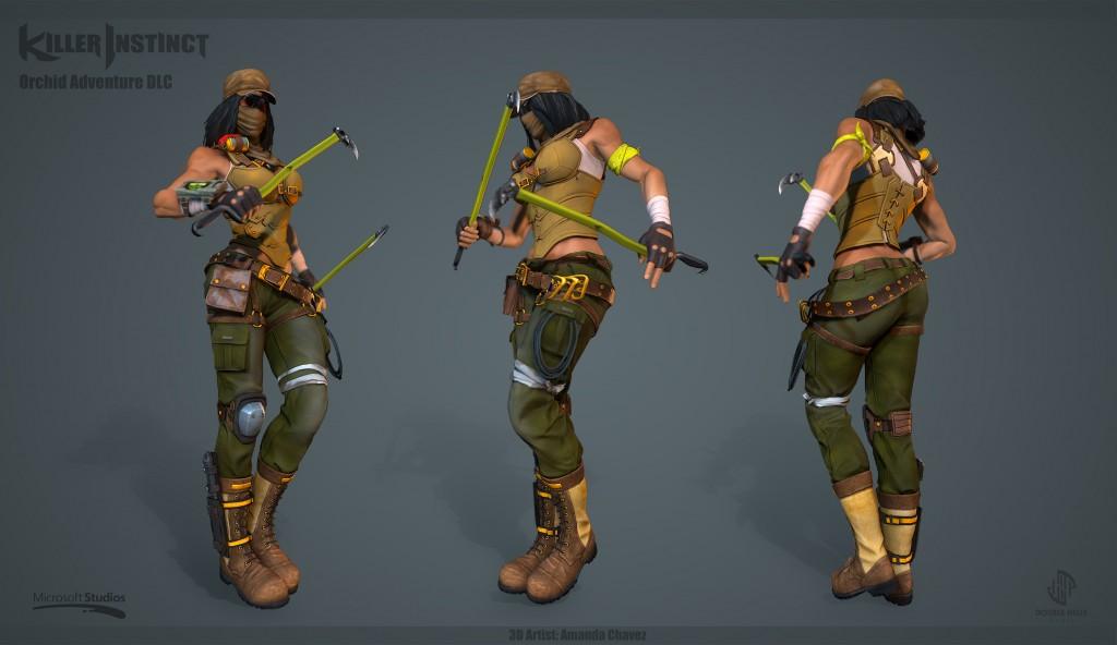 3d Orchid Wallpaper Character Dlc Killer Instinct Xbox One 171 Amanda Chavez