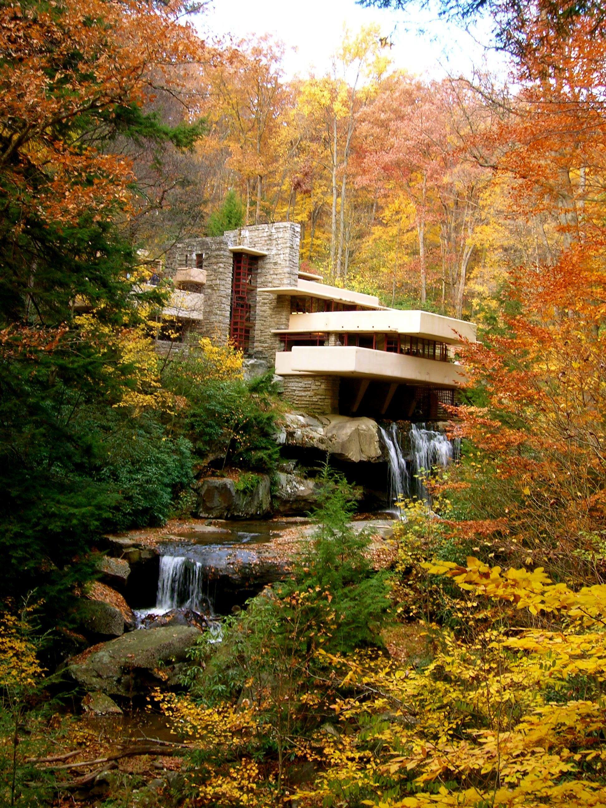 Frank Lloyd Wright Falling Water Wallpaper Frifotos Fallingwater In Fall Amanda Elsewhere