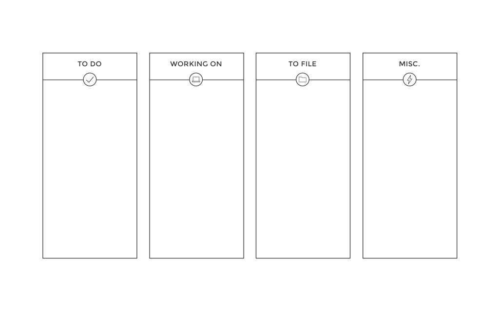 Grey white desktop organizer wallpaper background Get Organized - vertical storyboard