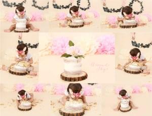 orange county cake smash, girl cake smash, minimalist cake smash, 1st birthday