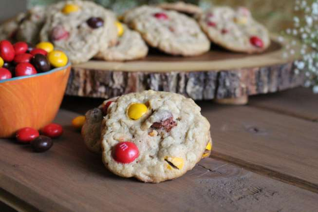 Oatmeal Peanut butter M&M cookies