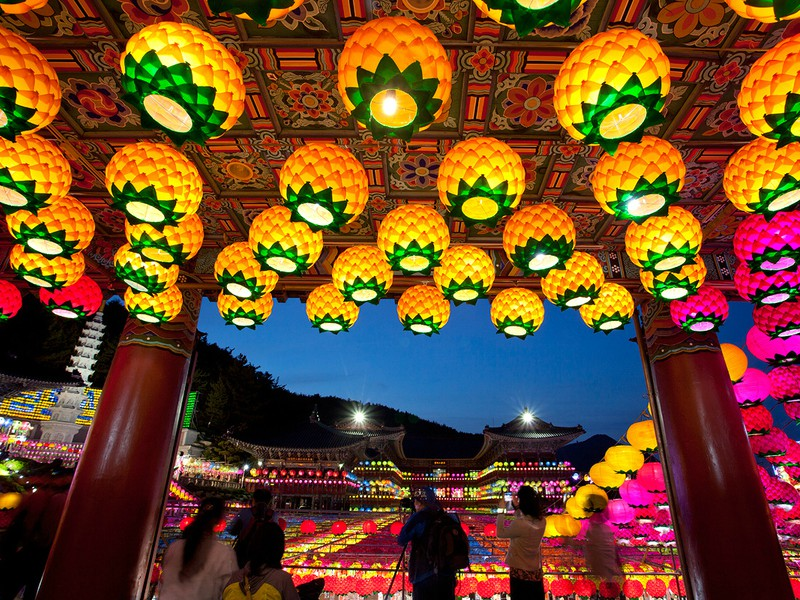 The Lotus Lantern Festival na Coreia do Sul