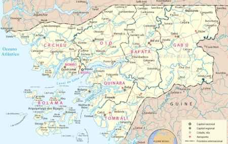 Mapa da Guiné-Bissau