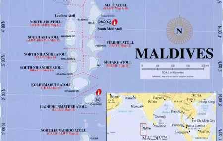 Mapa das Maldivas