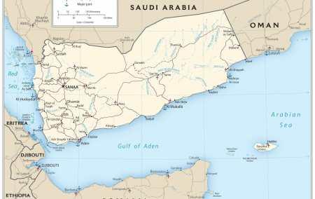 Mapa do Iémen