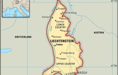 Mapa do Liechtenstein