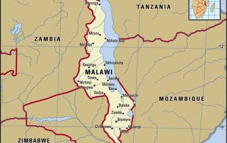 Mapa do Malawi