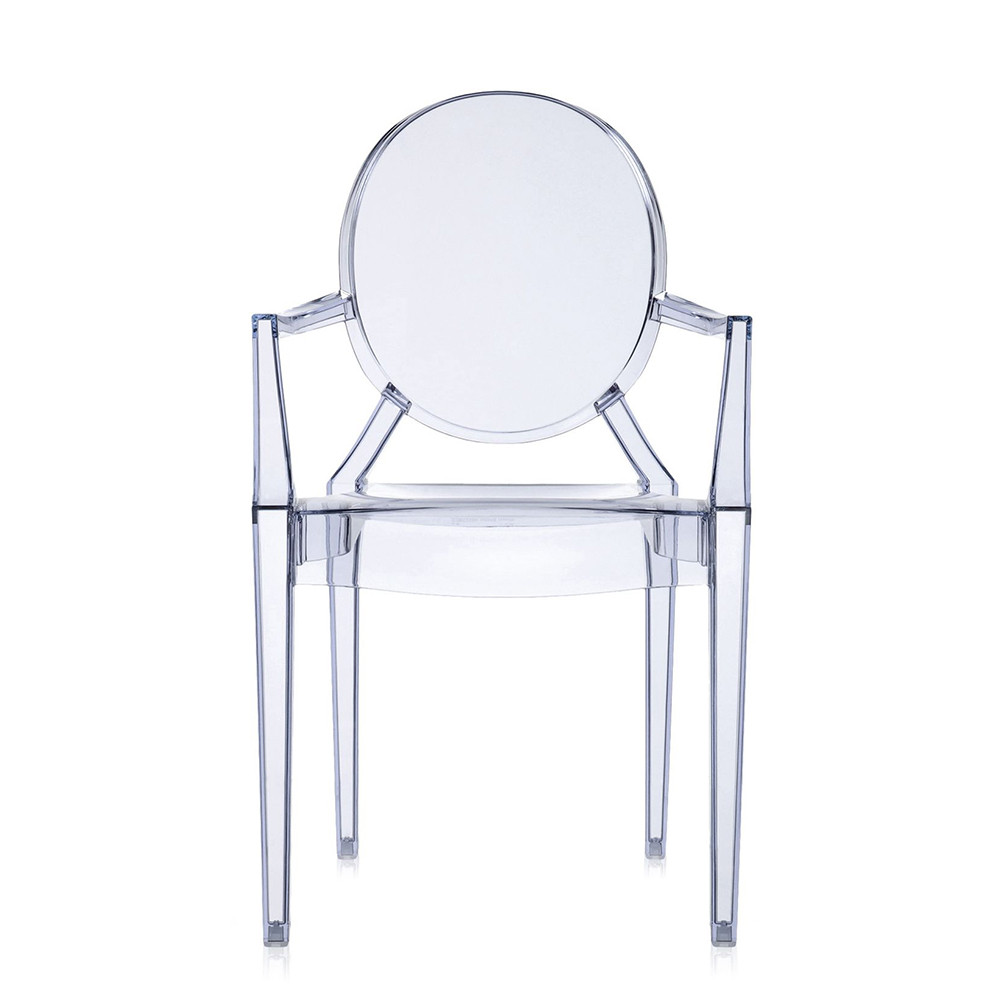 Philippe Starck Ghost Chair Louis Ghost Armchair Ice Blue