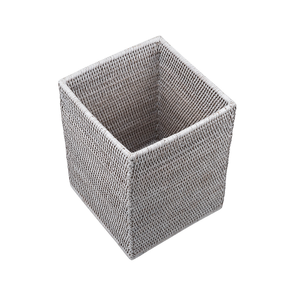 Shabby Chic Waste Baskets White Wicker Waste Basket Zef Jam