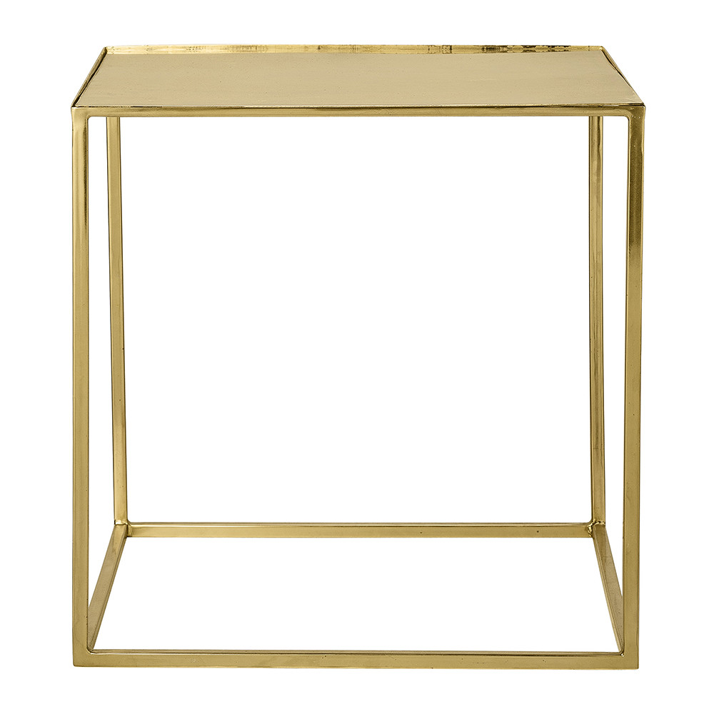 Table Metal Blanc Cube Side Table Gold