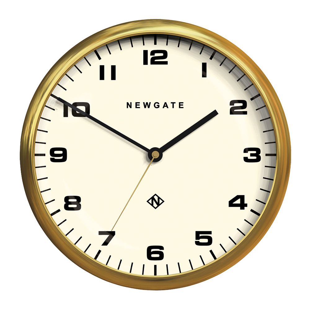 Buy Clock Chrysler Wall Clock Radial Brass