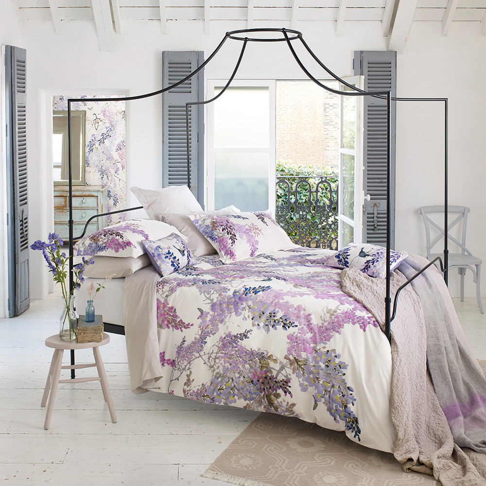 Quilt Cover King Wisteria Falls Lilac Duvet Cover King