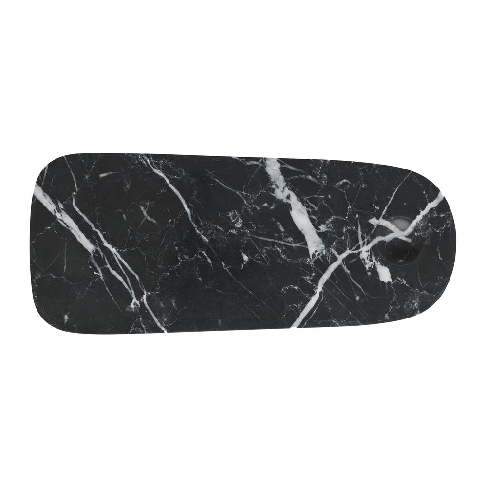 Small Marble Cutting Board Pebble Cutting Board Black Small