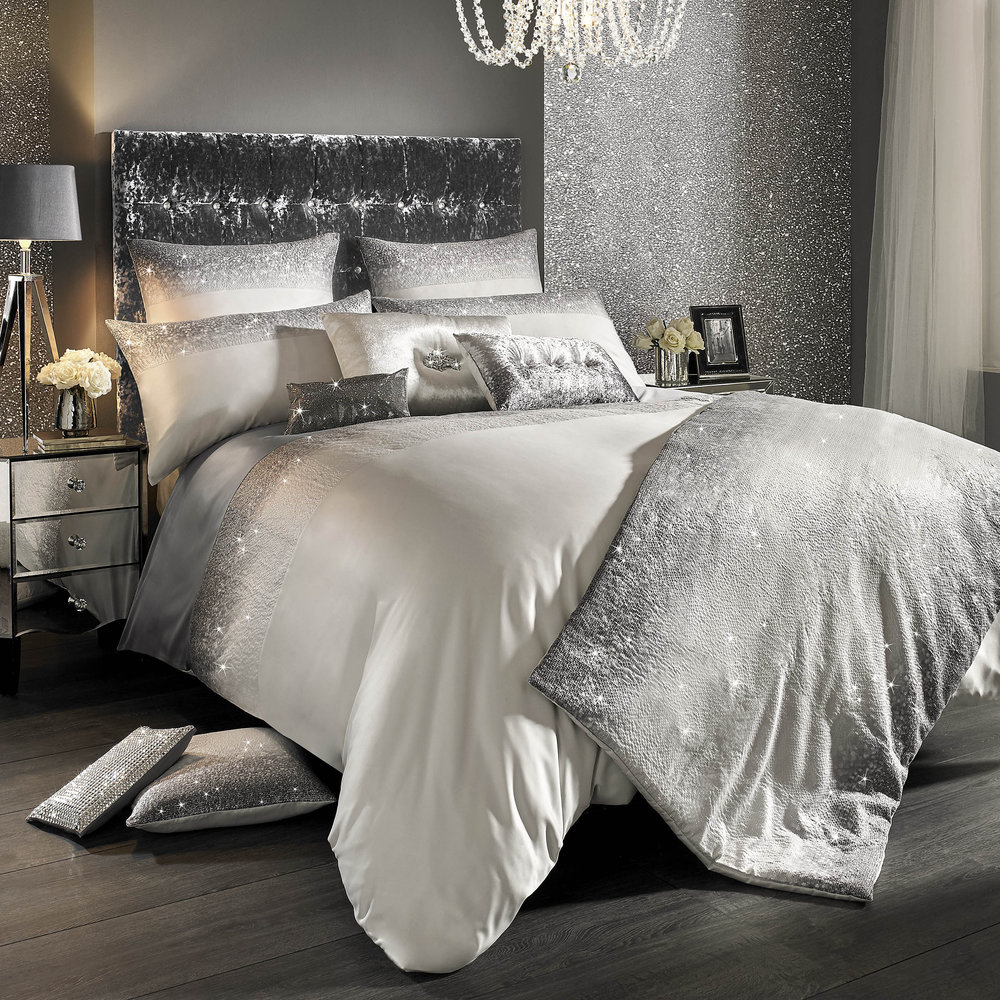 Silver Duvet Cover Buy Kylie Minogue At Home Glitter Fade Duvet Cover Silver Double Amara