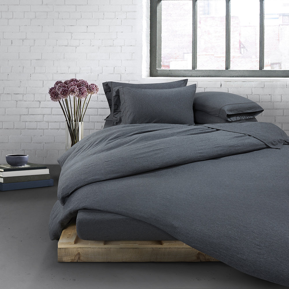 Calvin Klein Modern Cotton Body Duvet Cover Charcoal Single Bettwäsche