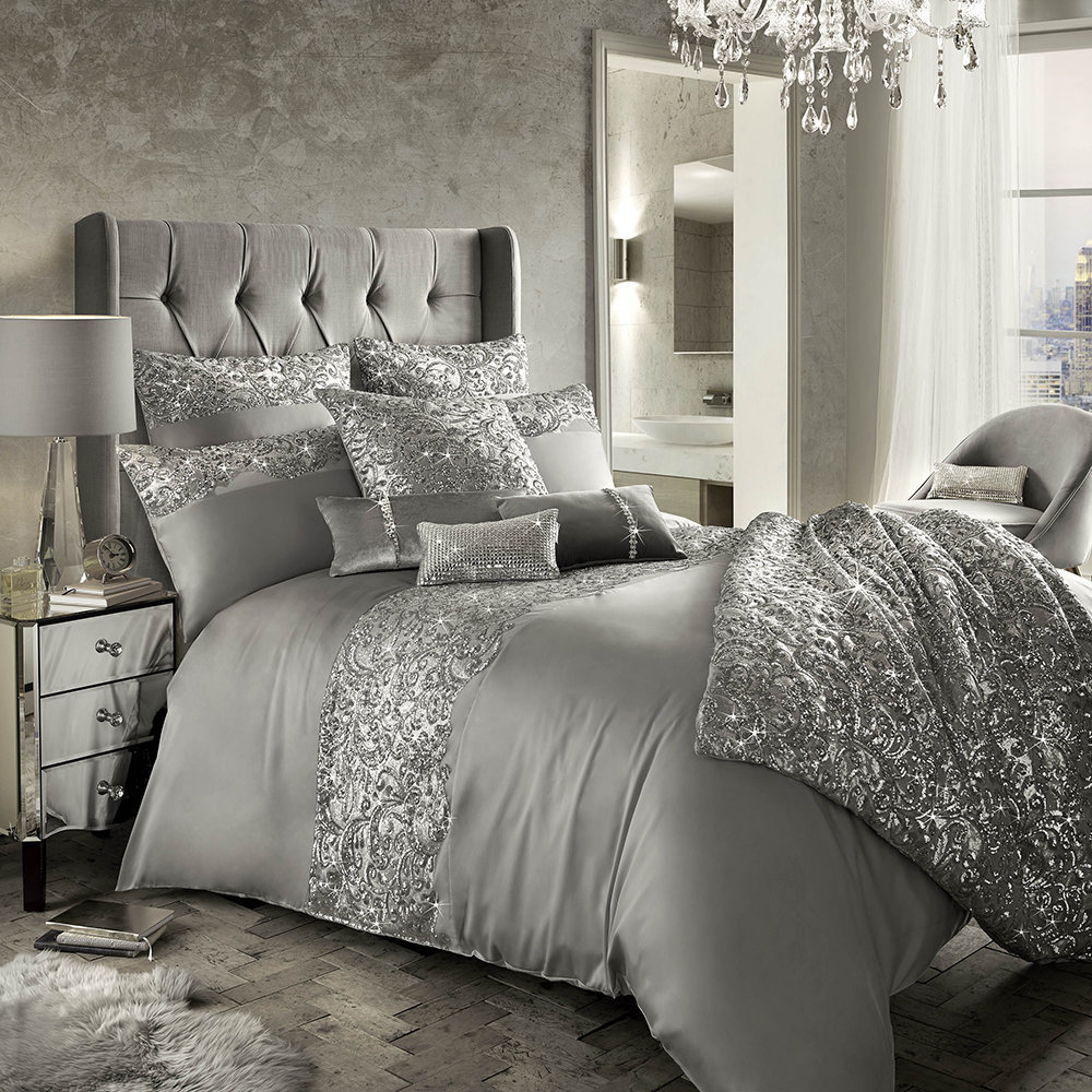Silver Duvet Cover Buy Kylie Minogue At Home Cadence Duvet Cover Silver Amara