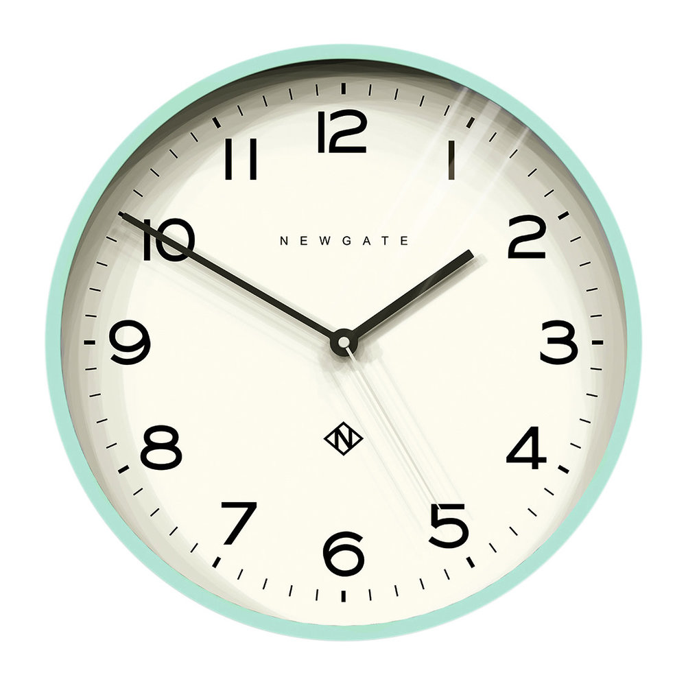 Buy Clock Number Three Echo Wall Clock Aquamarine