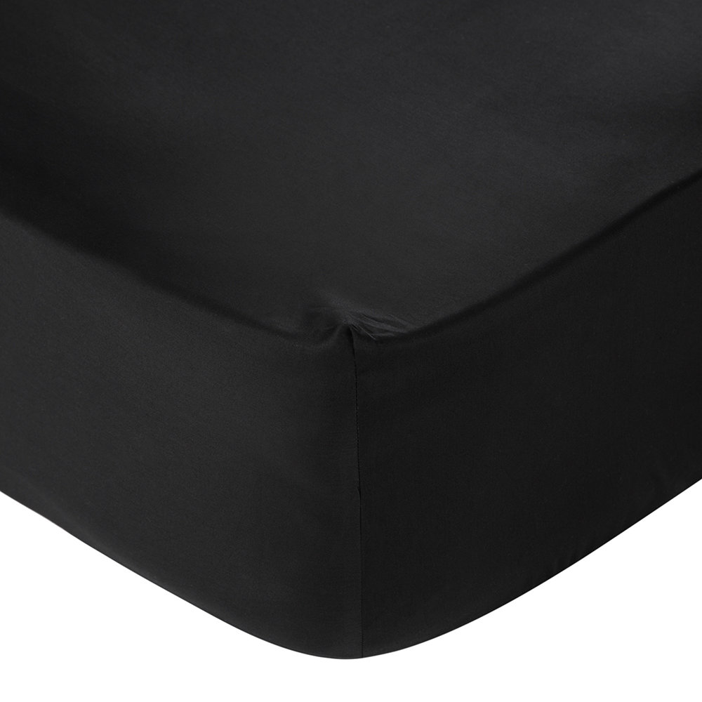 Double Bed Fitted Sheet Egyptian Cotton Fitted Sheet Black Double