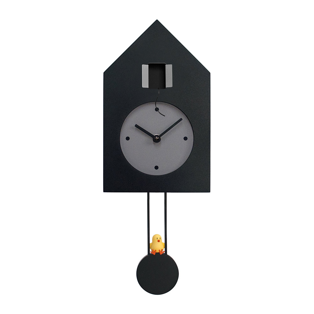Black Wall Clock Freebird Wall Clock Black