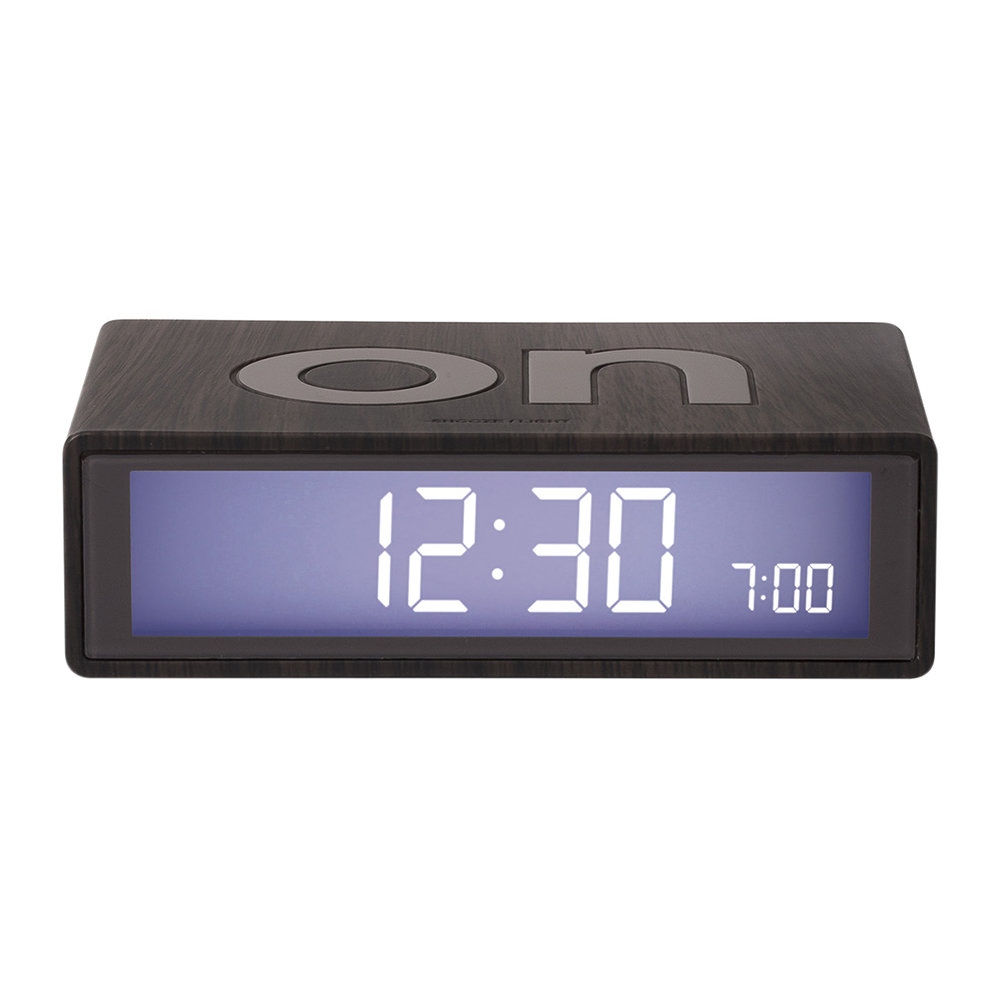 Flip Clock Buy Lexon Flip Clock Dark Wood Amara