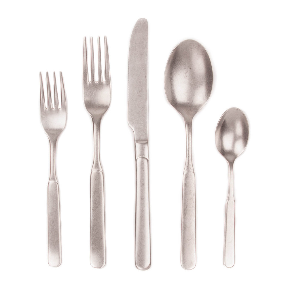 Discount Stainless Flatware Lucca 5 Piece Flatware Set Stainless Steel