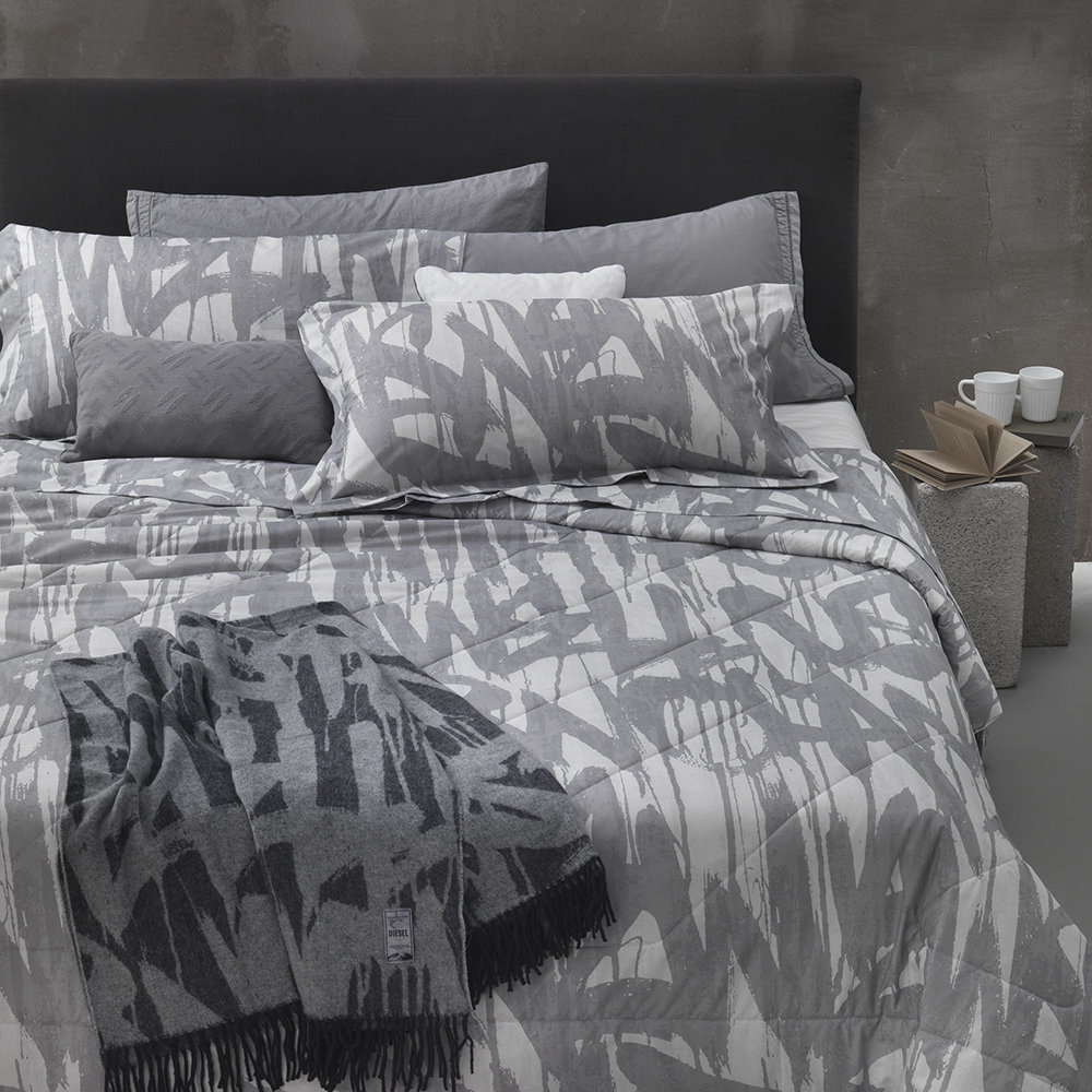 Buy Diesel Living Graffiti Duvet Cover Gray Double Amara