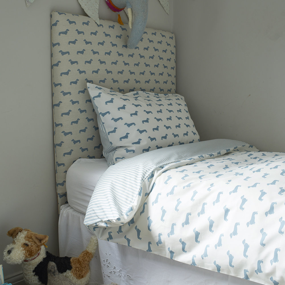 Bettwäsche Dog Side Dachshund Blue Duvet Set Double