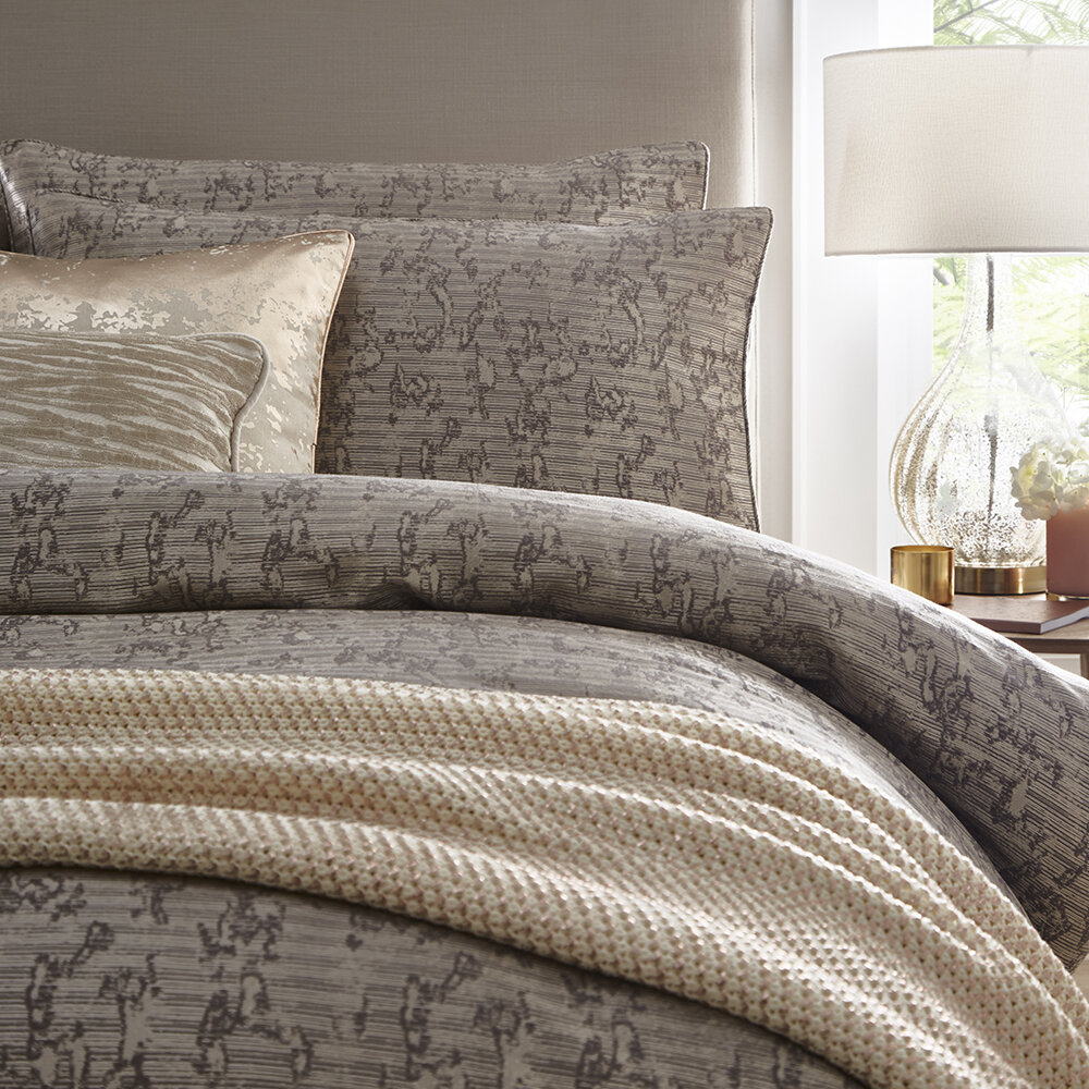 Buy Tess Daly Lux Duvet Set Natural Super King Amara