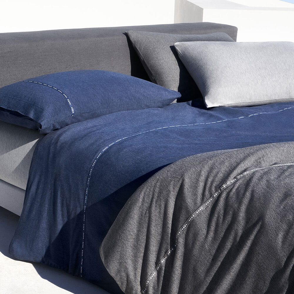 Buy Hugo Boss Boss Sense Duvet Cover Navy Double Amara