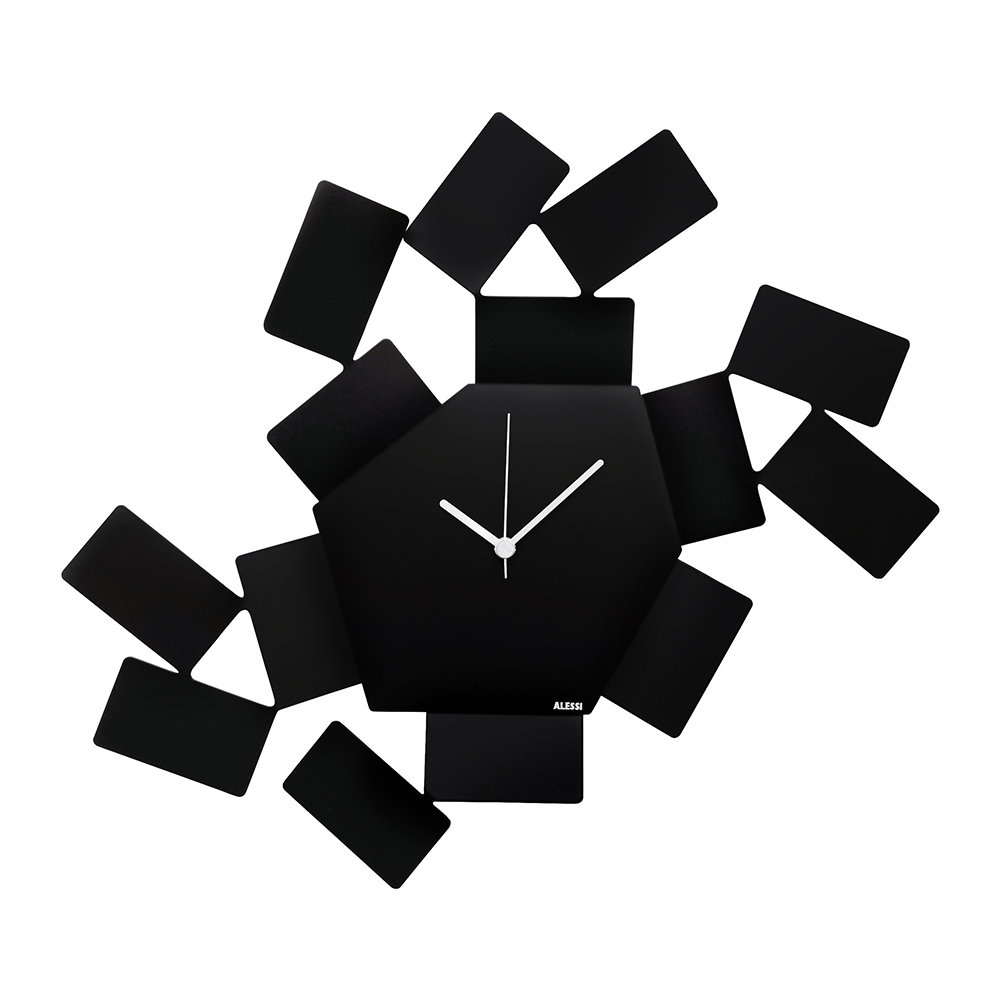 Black Wall Clock La Stanza Dello Scirocco Wall Clock Large Black