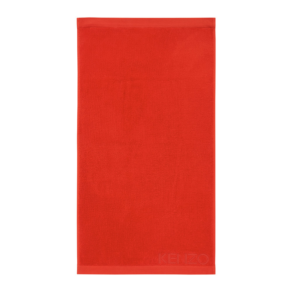 Buy Kenzo Iconic Towel Red Bath Sheet Amara
