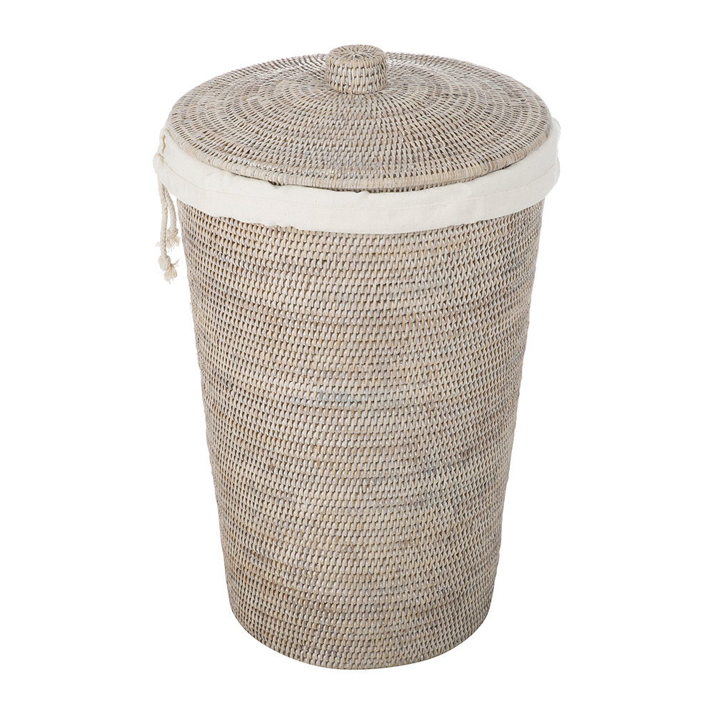 Designer Wäschekorb Buy Decor Walther Basket Wb Laundry Basket Round With Cloth Bag Light Rattan Amara