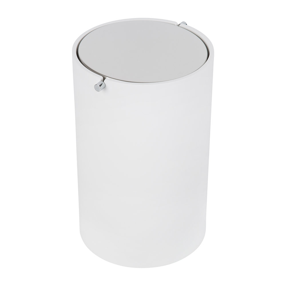 Decor Walther Stone Bemd Trash Can White