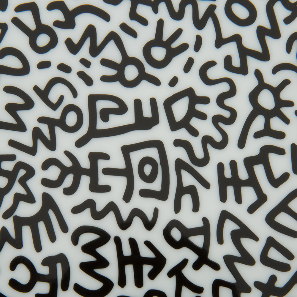 Keith Haring Bettwäsche Keith Haring Teller Black Pattern