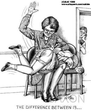 spanking cartoons