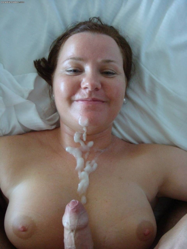 angry wife cum tits