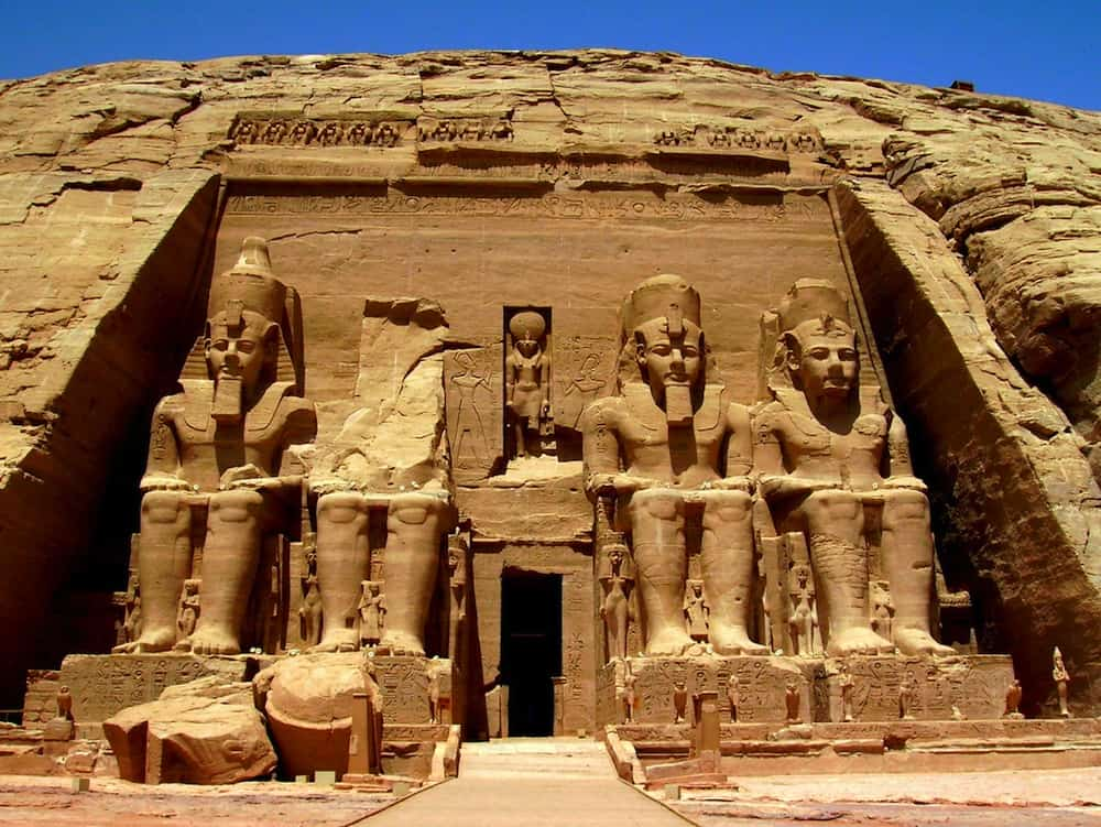 Relocated due to the Aswan Dam, the Abu Simbel statues are huge and impressive