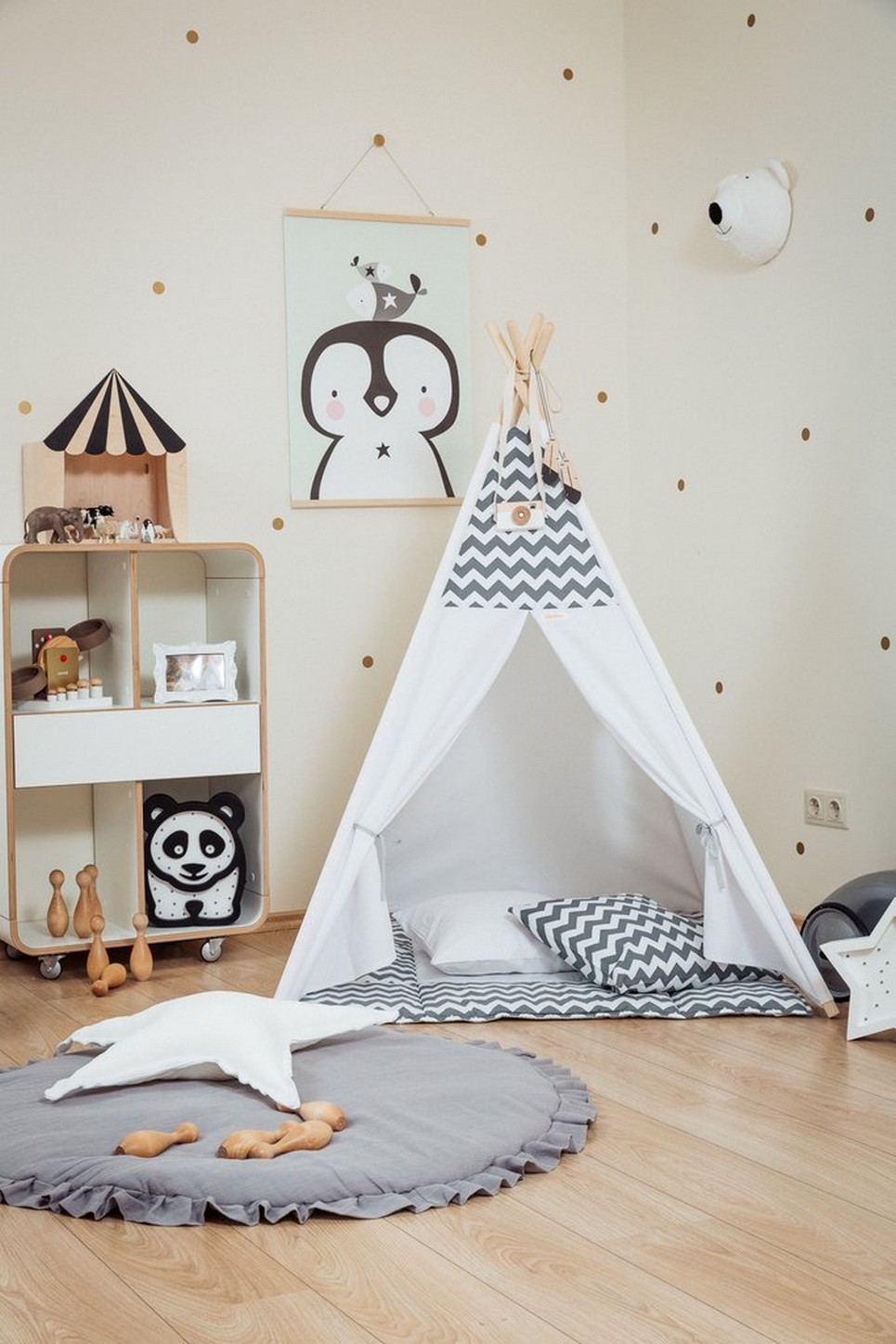 Teepee Kids Grey Chevron Children S Teepee Set