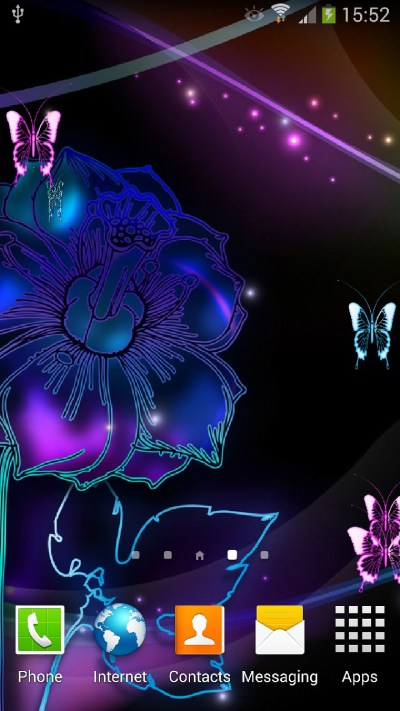 Neon Butterflies Live Wallpaper | Amax Software