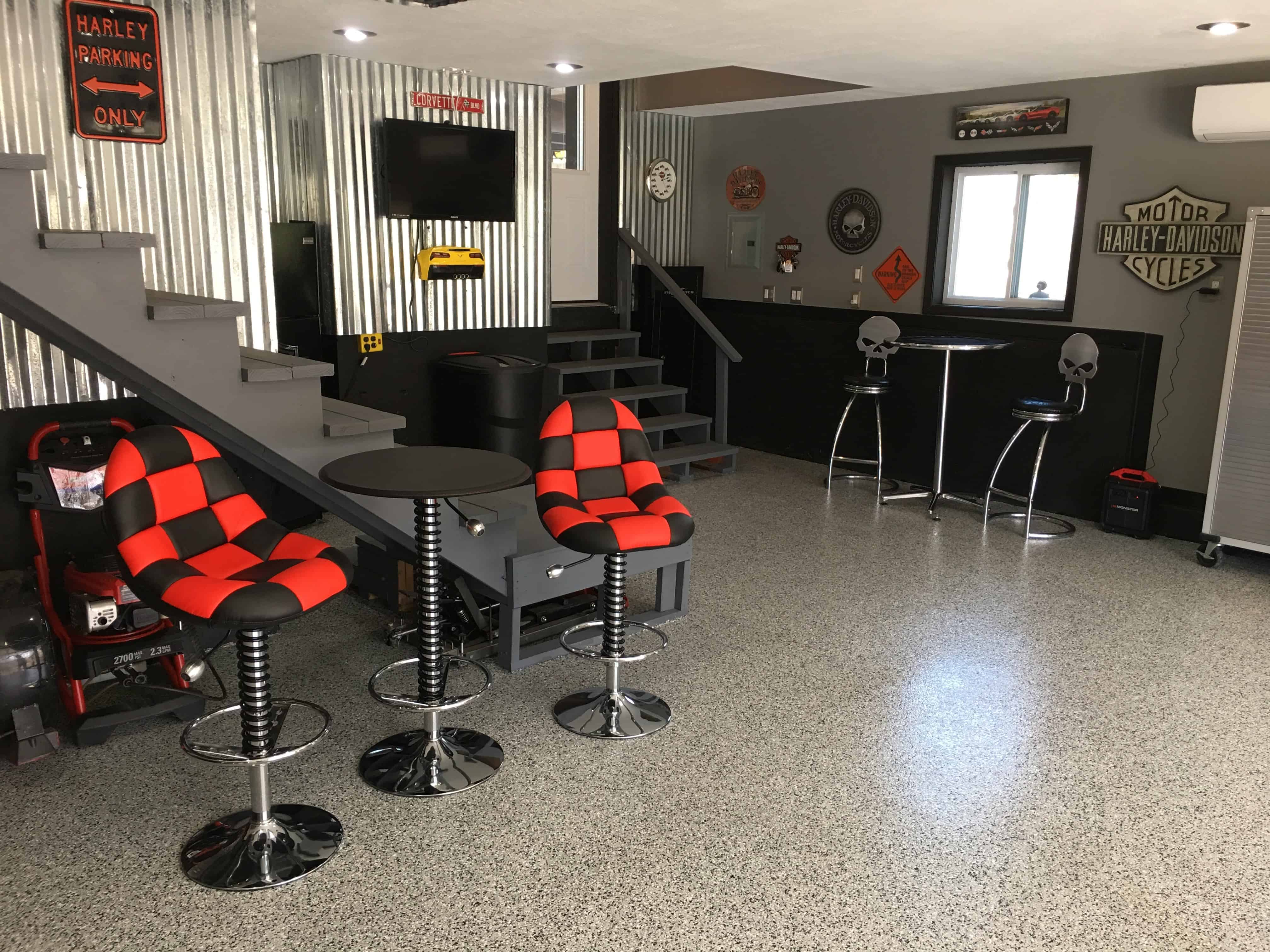 Garage Man Cave Extension Kansas City Epoxy Garage Floor Contractors Amazing Garage Floors